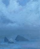 Boreray and Stac Lee by malize mcbride, Painting, Oil on canvas