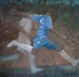 Chelsea v. Manchester Oct.'07 by malize, Painting, Oil on panel