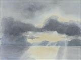 Dawn over Loch Ewe by malize mcbride, Painting, Watercolour on Paper