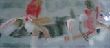 Liverpool v.Arsenal April 08 by malize mcbride, Drawing, Pastel on Paper