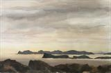 Rabbit island, Tongue Bay, Sutherland by malize mcbride, Painting, Watercolour on Paper
