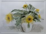 Sunflowers by malize mcbride, Painting, Watercolour on Paper