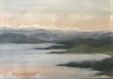 Winter Loch Ewe by malize mcbride, Painting, Watercolour on Paper